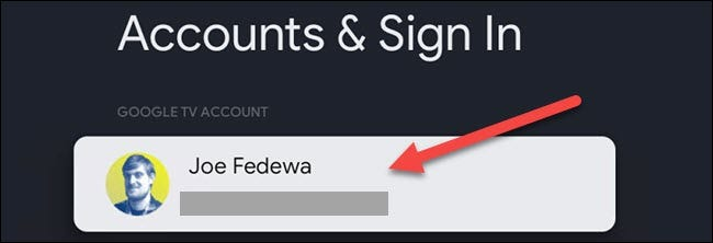 select your account