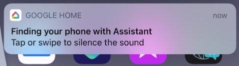 assistant ringing iphone