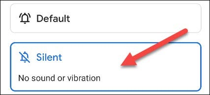 """Select the """"Silent"""" setting"""