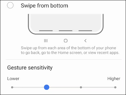 customize the buttons and sensitivity