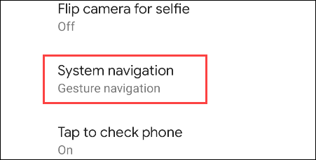 system navigation