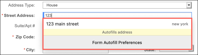 Use autofill in Firefox