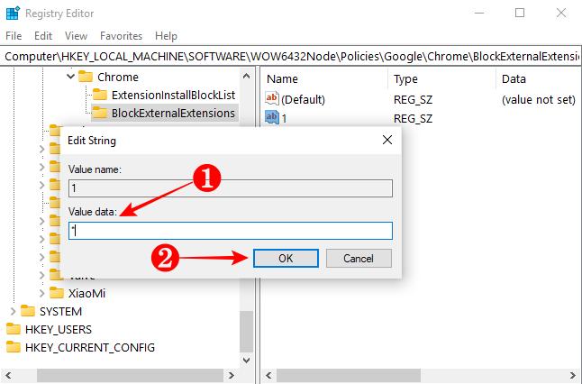 Adding an asterisk to BlockExternalExtension's String Value