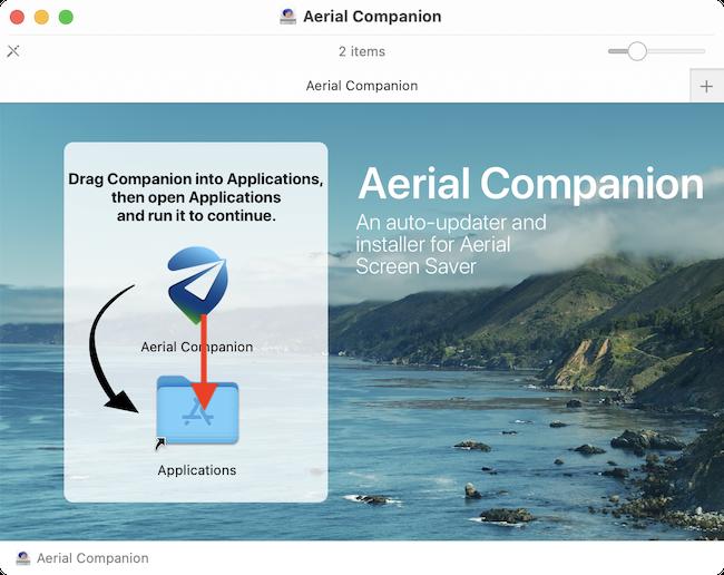 Drag Aerial Companion App to Applications Folder