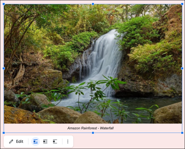 Draw caption for images in Google Docs