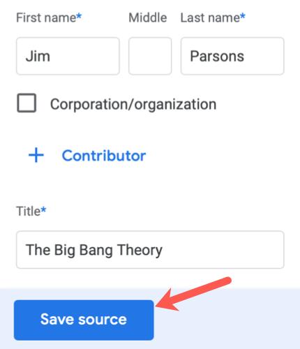 Modifier et enregistrer une source