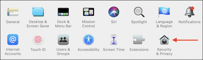 Go to Security & Privacy in System Preferences