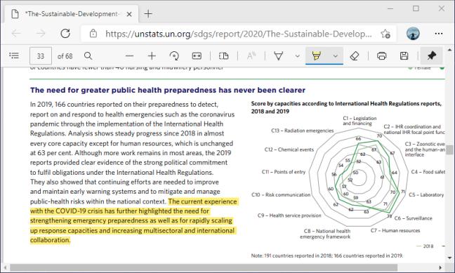 Выделите текст с помощью панели инструментов PDF в Microsoft Edge