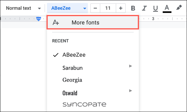 Click More Fonts