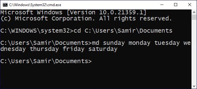 Multple-folders-Command in the CMD