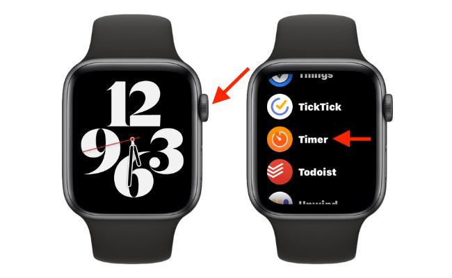 Open Timer App on Apple Watch