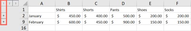 Схема Excel, уровень 1