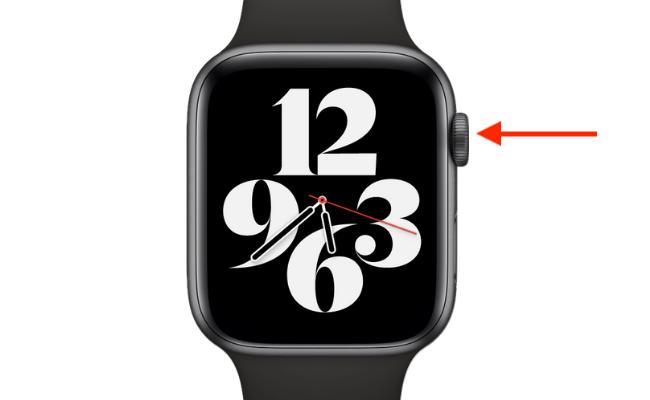 Press the Digital Crown on Apple Watch.