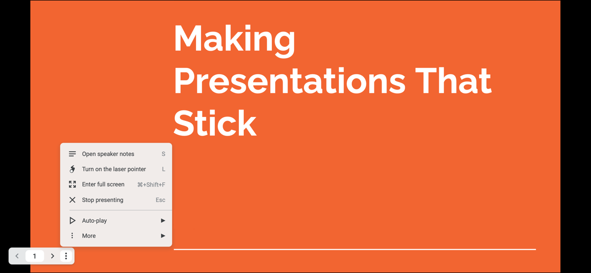 Redesigned Presenter Toolbar in Google Slides