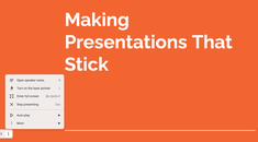How to Use the Google Slides Presenter Toolbar