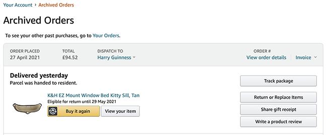 amazon order archive