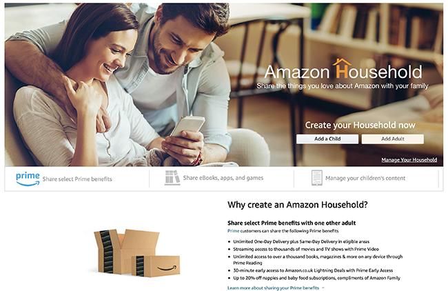amazon household information
