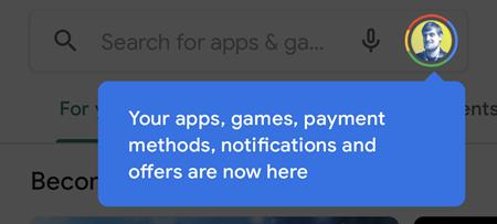új felhasználói felület bevezető üzenet