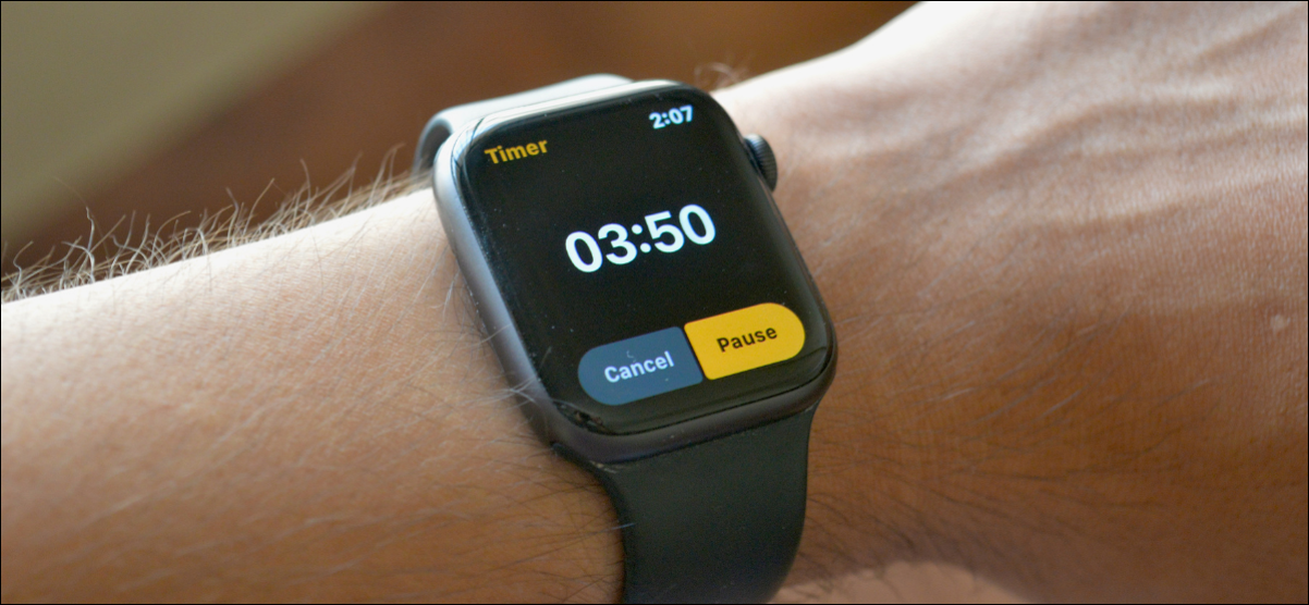 Setting a Timer on Apple Watch