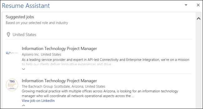 Suggested Jobs
