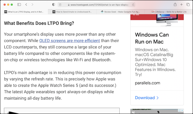 Text in Safari at 24 Points