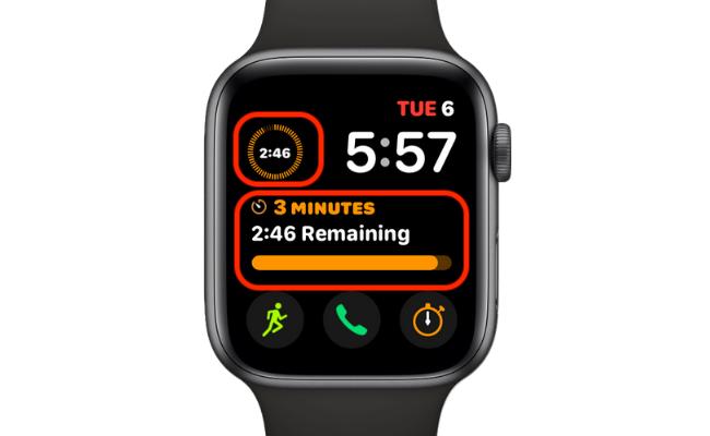 Timer Complications Running on Modular Watch Face