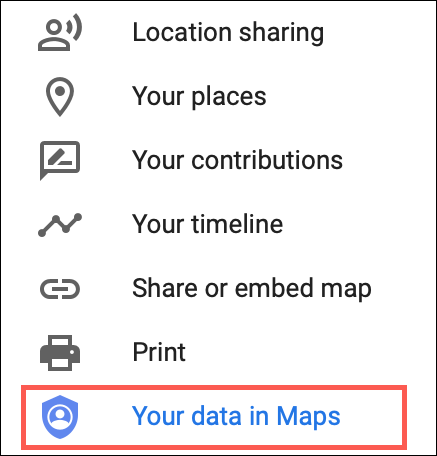 Select Your Data in Maps