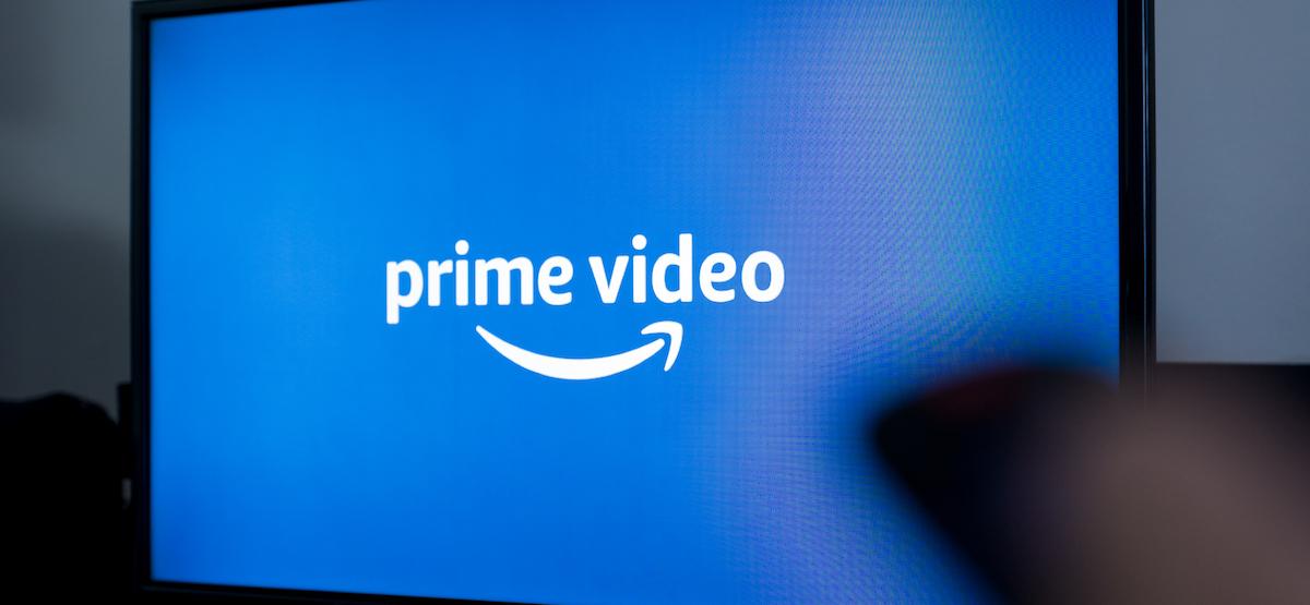 Amazon Prime Video logo on a TV