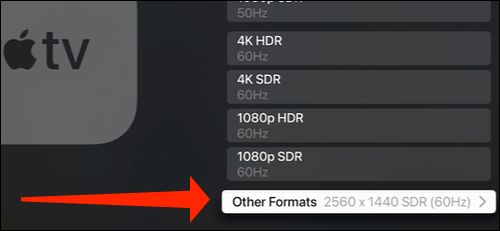 Select Other Formats