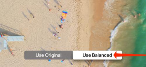 Select Use Balanced