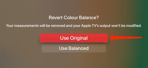 Select Use Original