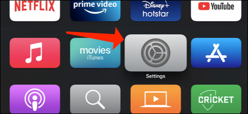Go to Apple TV Settings