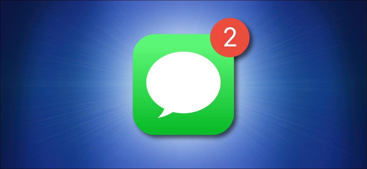 Apple Messages Icon with a Red Notification Badge