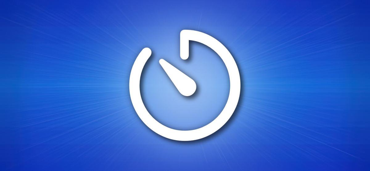 Значок таймера Apple iPhone на синем