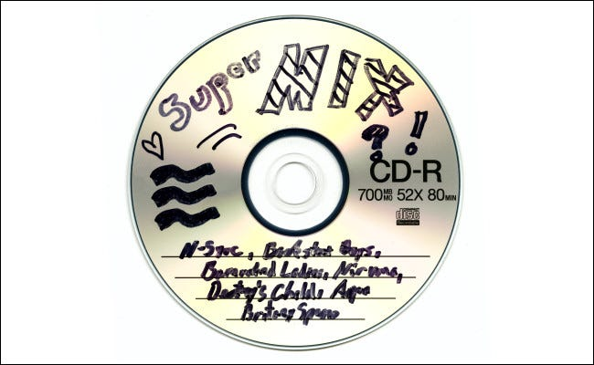 A late 1990s mix CD