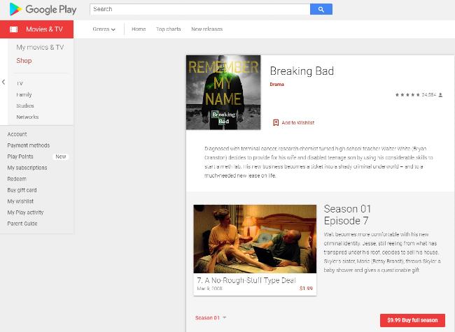 Breaking Bad on Google Play