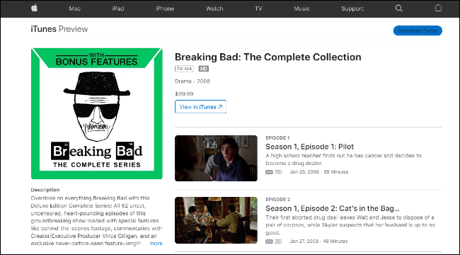 Breaking Bad on iTunes