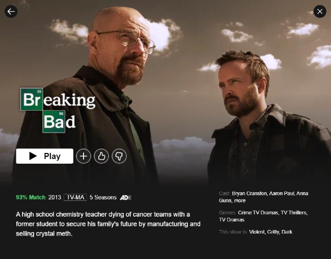 Breaking Bad on Netflix