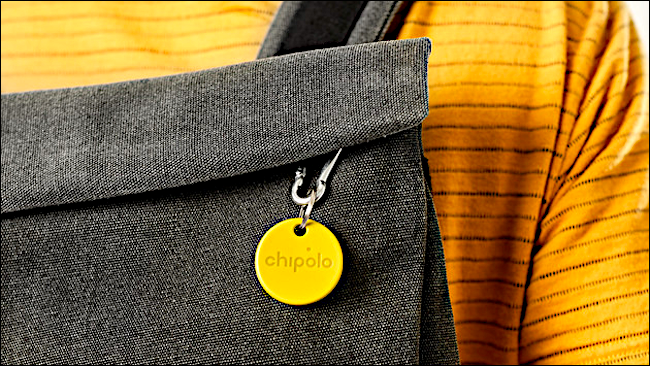 chipolo one on bag