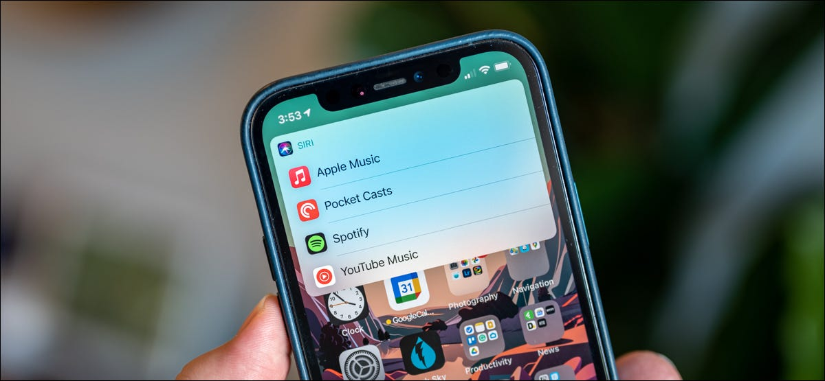 Choose a default music app on iPhone