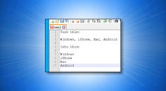 How to Replace Any Character with Newlines in Notepad++