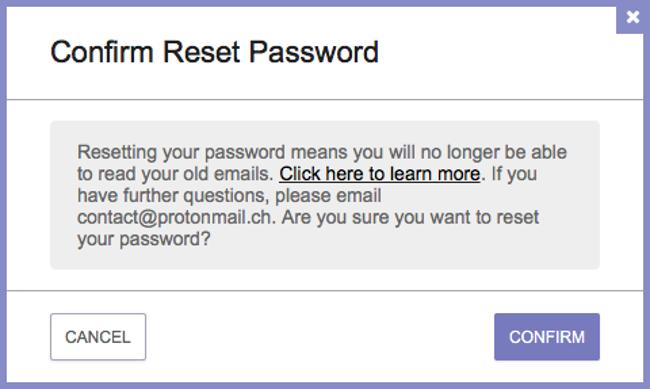 подтвердите сброс пароля