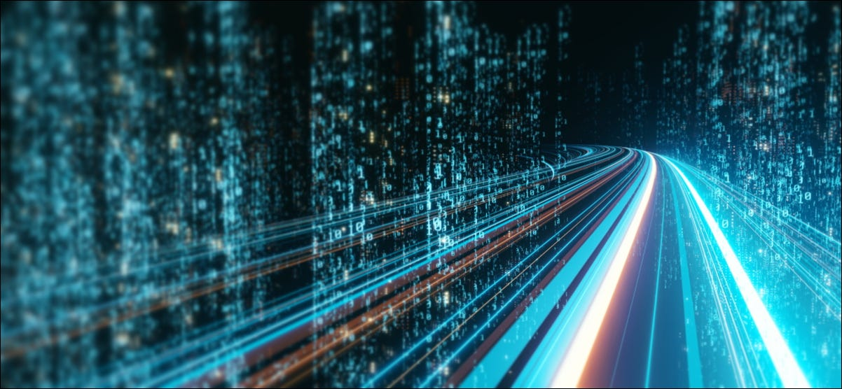 An abstract rendering of a digital highway.