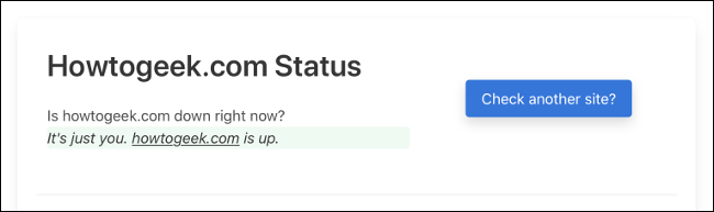 Downfor.io Status for How-To Geek