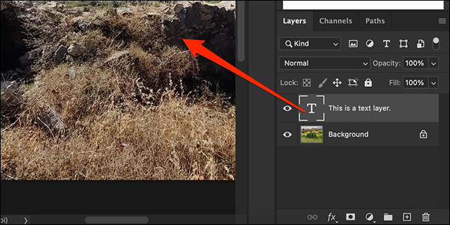 """Drag a layer from the """"Layers"""" panel in the Photoshop window"""