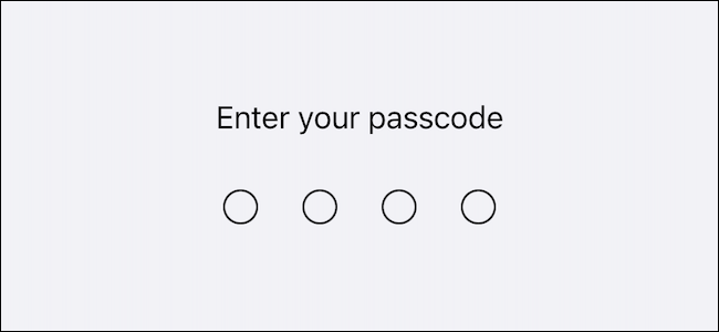 Enter your lock screen passcode or password