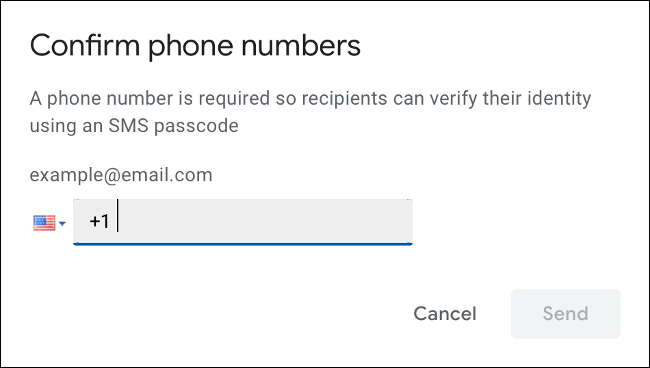 Specify mobile number for SMS verification