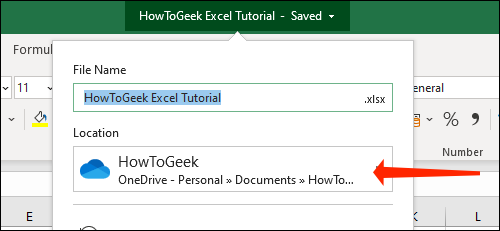 Check the save folder location for Microsoft Excel workbooks