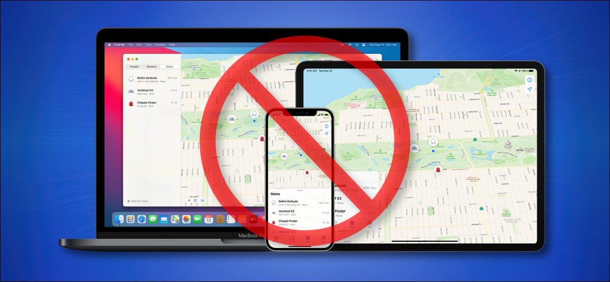 Apple's Find My Network runs on Apple devices Crossed-Out Hero