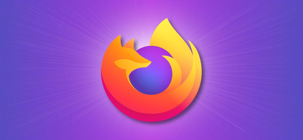 Firefox Logo on Purple Background